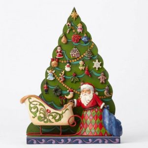 Jim shore heartwood creek 4053717 the countdown is on santatree advent calendar 25 piece 23353